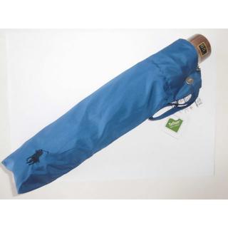 ポロラルフローレン(POLO RALPH LAUREN)の新品 ★ポロラルフローレン 紳士折り畳み雨傘 青 65(傘)