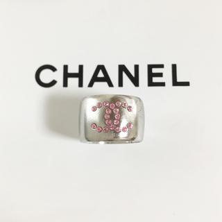 CHANEL - 正規品 シャネル 指輪 ココマーク ハート ピンクストーン シルバー リング 4