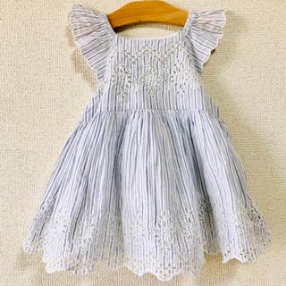 babyGAP - 【新品タグ付き】babyGAP☆ワンピース 80cm ドレス チュニック ブルー