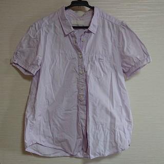 ジーナシス(JEANASIS)のラベンダー色半袖シャツ(シャツ/ブラウス(半袖/袖なし))
