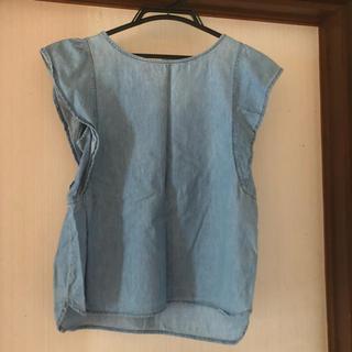 ジーユー(GU)のGU デニムブラウス(シャツ/ブラウス(半袖/袖なし))
