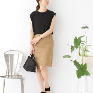 アーバンリサーチ(URBAN RESEARCH)のコットンツイルタイトスカート(ひざ丈スカート)