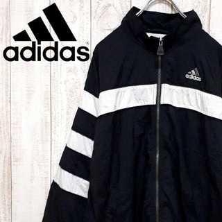 アディダス(adidas)の【01-192】アディダス ナイロンジャケット モノトーン 90's(ナイロンジャケット)