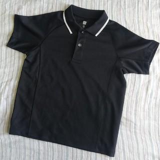 ユニクロ(UNIQLO)のUNIQLO キッズ ドライ ポロシャツ 黒 110cm(Tシャツ/カットソー)