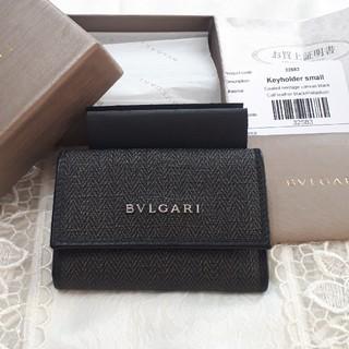 ブルガリ(BVLGARI)のブルガリ キーケース32583 BVLGARLウィークエンド 黒×グレー(キーケース)