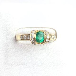 K18 エメラルド×ダイヤモンド リング 11号 新品仕上げ(リング(指輪))