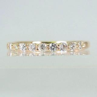 K10YG ダイヤモンド リング 11号 [f13-1](リング(指輪))
