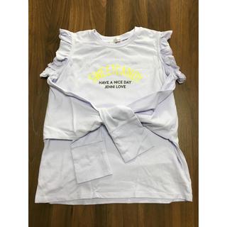 ジェニィ(JENNI)のJENNI loveフリルタンクトップ長袖トップス美品160㎝ラブトキシック好き(Tシャツ/カットソー)