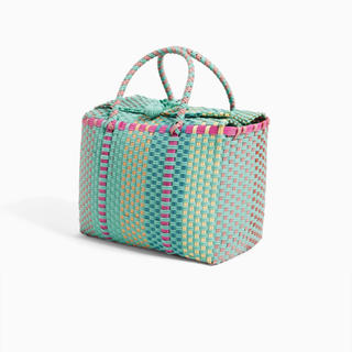 ZARA - ザラ かごバッグ カゴバッグ 編み込みバッグ