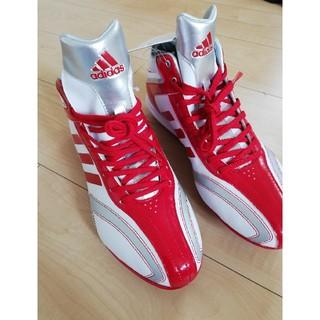アディダス(adidas)の新品 adidas アディダス 野球 スパイク 赤 銀 28.5(シューズ)