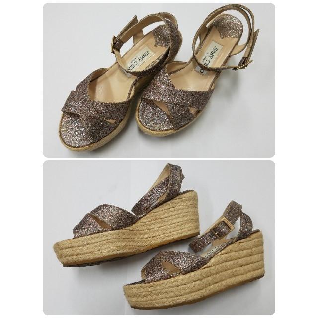 JIMMY CHOO(ジミーチュウ)のジミーチュ~マルチグリッターキラキラ✨サンダル レディースの靴/シューズ(サンダル)の商品写真