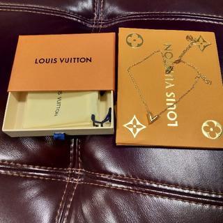ルイヴィトン(LOUIS VUITTON)の緊急お値下げ!3日間限定☆ルイヴィトンエセンシャルVネックレスほぼ未使用(ネックレス)