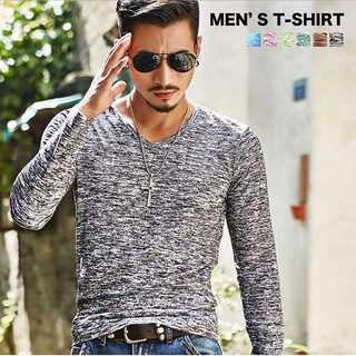 【お買い得】 ★6カラー メンズロングTシャツ★(Tシャツ/カットソー(七分/長袖))
