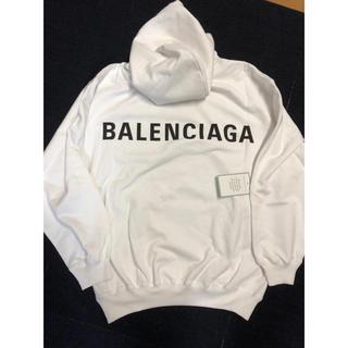 Balenciaga - 【最終値下げ】バレンシアガ バックロゴ パーカー 確実正規品 新品未使用