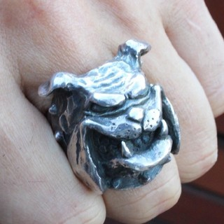クレイジーピッグ(CRAZY PIG)のクレイジーピッグ ブルドッグ シルバーリング 20号 ギャランティーカード付(リング(指輪))