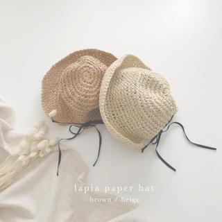 babyGAP - monbebe 2way ラフィア ハット ボンネット