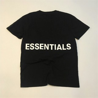 フィアオブゴッド(FEAR OF GOD)のFEAR OF GOD ESSENTIALS 半袖Tシャツ XLサイズ ブラック(Tシャツ/カットソー(半袖/袖なし))
