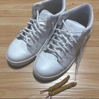 ティンバーランド ホワイト スニーカー(付属靴紐付き)(スニーカー)