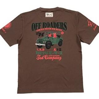 テッドマン×カミナリモータース/Tシャツ/ブラウン/tdkmt-15(Tシャツ/カットソー(半袖/袖なし))