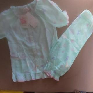 しまむら - 新品未使用★女の子半袖六分丈パジャマ120