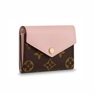 LOUIS VUITTON - 19SS LV モノグラム 三つ折りミニ財布 ピンク 可愛い