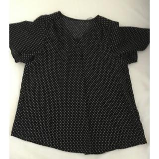 ジーユー(GU)のGU ドットエアリーブラウス XS (シャツ/ブラウス(半袖/袖なし))
