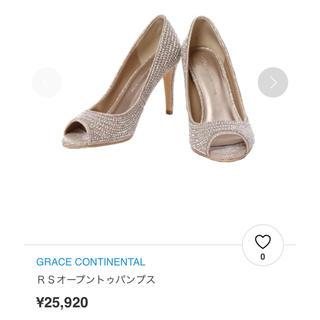 GRACE CONTINENTAL - 定価 25,920円/グレースコンチネンタル オープントゥ  ビジューパンプス