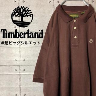 ティンバーランド(Timberland)の《レア》ティンバーランド◆ビッグシルエット 刺繍ロゴ 茶色 ポロシャツ 90s(ポロシャツ)