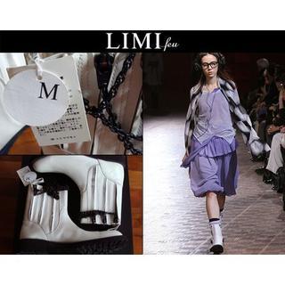 リミフゥ(LIMI feu)のLIMI feu リミフゥ レザー パンク装飾 チェーン付き ブーツ 白(ローファー/革靴)
