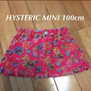 ヒステリックミニ(HYSTERIC MINI)の100cm HYSTERIC MINI ビンテージデザイン コーデュロイスカート(スカート)