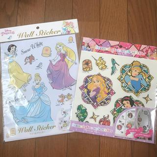 Disney - プリンセスウォールステッカー二枚セット、白雪姫、シンデレラ、ラプンツェル
