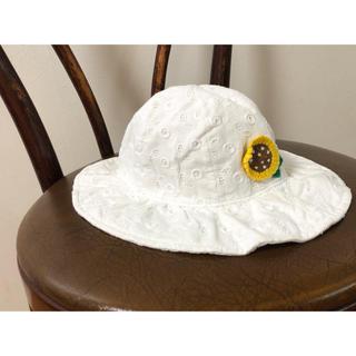 ファミリア(familiar)のfamiliar 49cm 夏帽子 ひまわり(帽子)