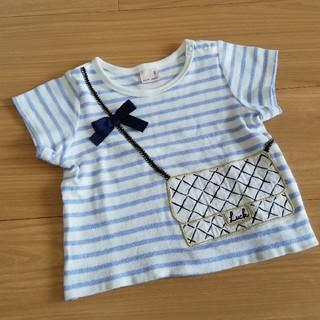 petit main - プティマイン♡ボーダーポシェットTシャツ 80㎝