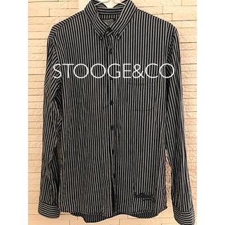 マウジー(moussy)のSTOOGE&CO ストライプシャツ(シャツ)