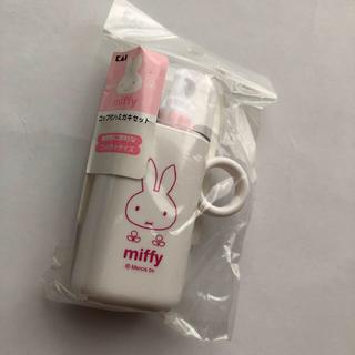 貝印 - ミッフィー コップ付歯磨きセット