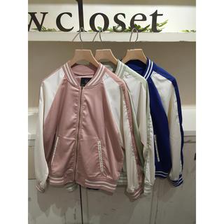 w closet - ダブルクローゼット/シンプルスカジャン/ピンク