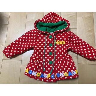 アナップキッズ(ANAP Kids)のアウター コート 冬物 アナップ ANAP 90 イチゴ 赤 ドット ミニー(ジャケット/上着)