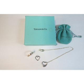 ティファニー(Tiffany & Co.)のティファニー アトラス オープンハート リング ネックレス 3点セット(ネックレス)