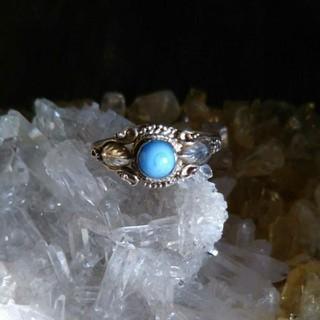 ラリマー リング 天然石 14号 パワーストーン(リング(指輪))