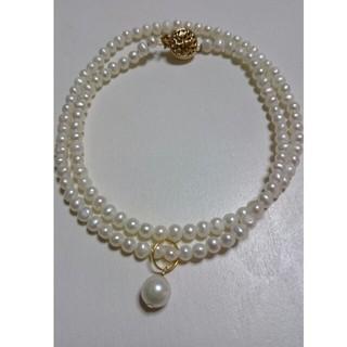 あこや本真珠 6.5㎜ トップ付き  ベビーパール ネックレス (ネックレス)