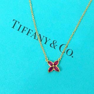 Tiffany & Co. - 希少 美品 ティファニー ビクトリア ルビー ネックレス