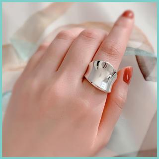 シルバー ワイド リング 11号 ワンサイズ シンプル 925刻印入り 新品♡(リング(指輪))