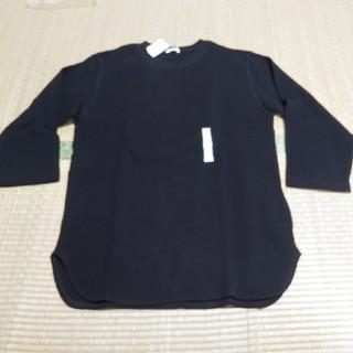 GU - GU ワッフルクルーネックTシャツ