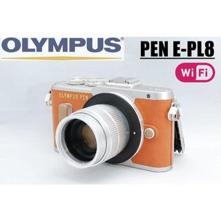 OLYMPUS - ★人気のブラウンボディ♪ PEN PL-8 オリンパス純正バック付き★