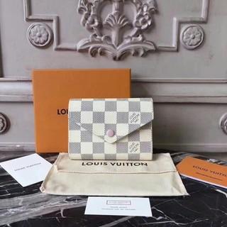 LOUIS VUITTON - 可愛い LV ダミエ レディス ミニ 三つ折りたたみ財布 ピンク
