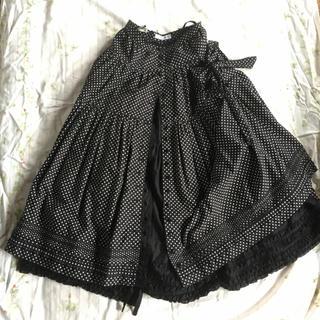 PINK HOUSE - ワンダフルワールド カネコイサオ ドット スカート 黒