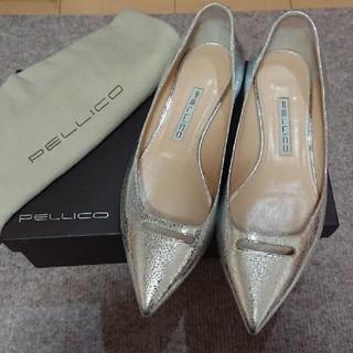 PELLICO - 美品 ペリーコ PELLICO シルバーフラットシューズ パンプス アネッリ