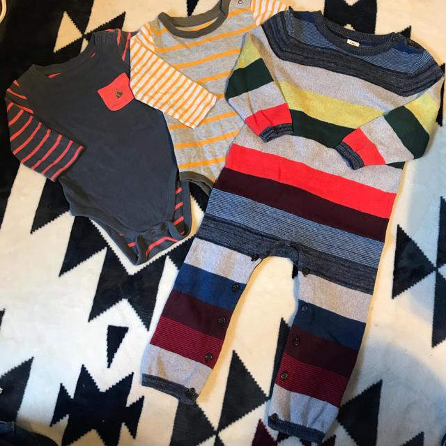 babyGAP(ベビーギャップ)のGAP カバーオールセット 80cm キッズ/ベビー/マタニティのベビー服(~85cm)(カバーオール)の商品写真