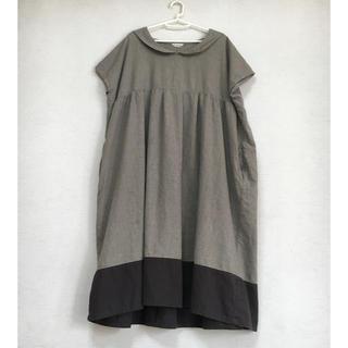 サマンサモスモス(SM2)のSM2 綿セーラー襟ワンピース(ひざ丈ワンピース)