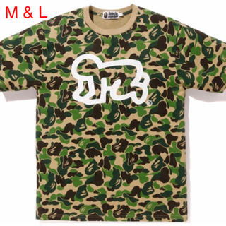 A BATHING APE - BAPE x KEITH HARING ABC CAMO TEE